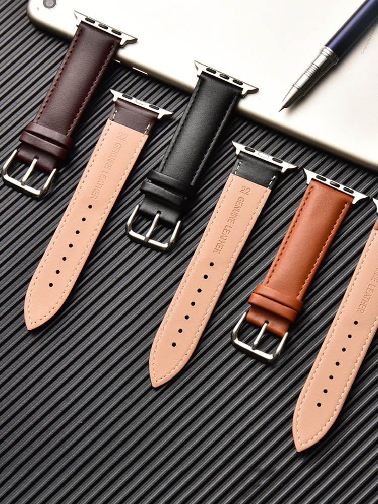 Loop-Strap Watch-Band Bracelet Brown 40mm 5-44mm for Apple 4-3/2-1 38mm Men 42mm