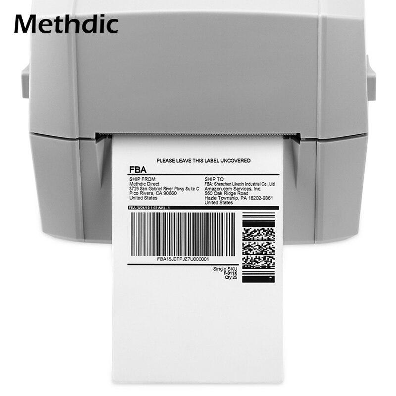 Methdic 4 X 6  Thermal Labels 4000 Sheets Oil Resistant Thermal Label Printer