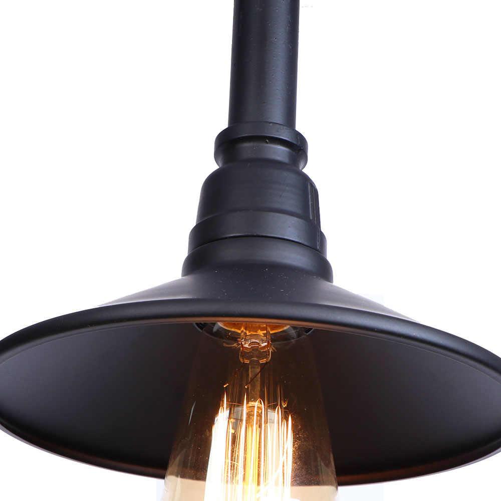 Промышленная водопроводная труба Настенные светильники черный железный светодиодный настенный светильник винтажный Лофт Декор Эдисона настенные бра E27 прикроватный Домашний Светильник