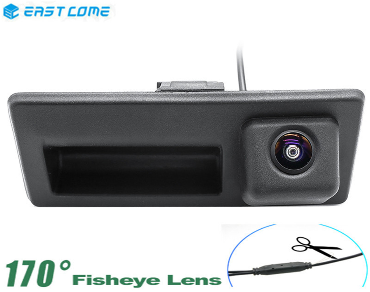1080P Trunk Handle Car Rear View Reverse Camera For Volkswagen Passat Caddy MK3 Golf Poal Golf Plus Audi A4 A6 Car Camera