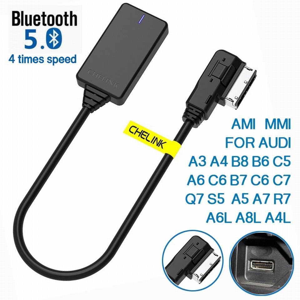 AMI MMI MDI sans fil Aux bluetooth adaptateur câble Audio musique Auto bluetooth pour Audi A3 A4 B8 B6 A5 A7 R7 S5 Q7 A6L A8L A4L