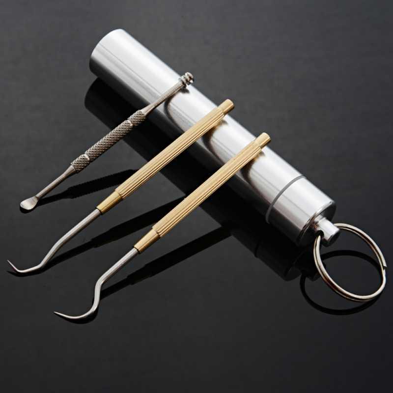 Stainless Steel Portable Metal Toothpick Suit Reusable Waterproof Case