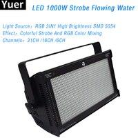 New LED 1000W RGB Strobe light 1000PcsX1W Q sram High Brightiness RGB 3in1 led 31/16/6 Channels Bar Show DJ Disco strobe light