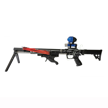 Semi-automatic Rifle Slingshot Neptune 17 Metal Catapult Draw Force Rubber Band Ammo Arrow Ball For Outdoor Hunting And Shooting