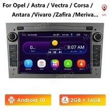 Android 10 2 DIN CAR GPS Navi 2G 16G for opel Vauxhall Astra H G J Vectra Antara Zafira Corsa Vivaro Meriva Veda wifi 4G USB OBD