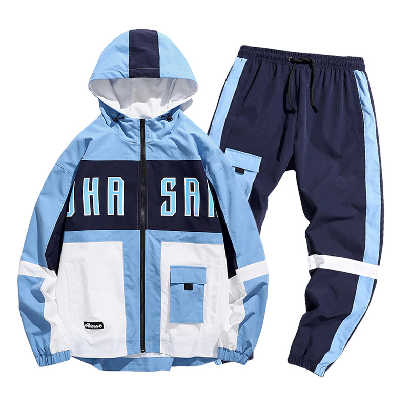 2020 Men Streetwear Tracksuit 2 Pcs Jacket And Pants Hooded Sweatshirts Sweatsuit Man Clothing Set