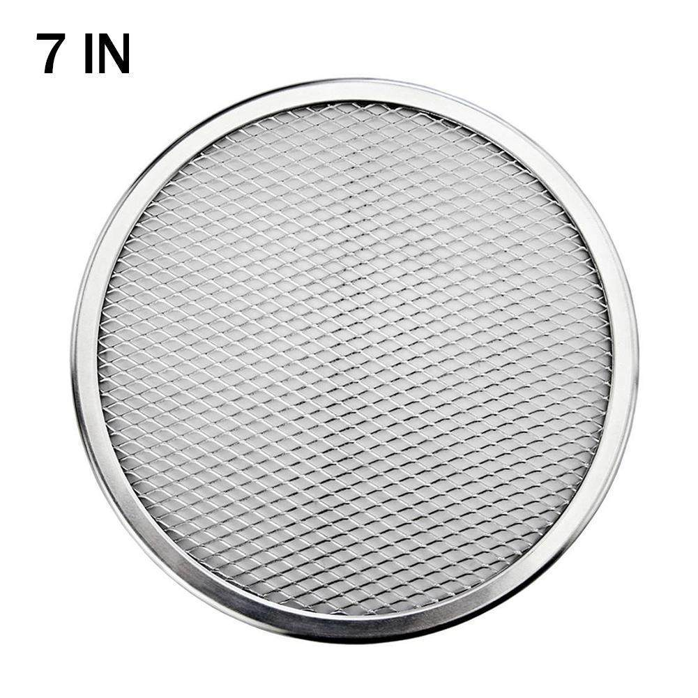 6-14inch Food Flat Mesh Pizza Pan Screen Oven Baking Tray Net Kitchen Tools