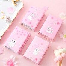 4pcs/lot Cartoon Cute Cat In The Sakura Sticky Post It Notes Multi Folding Writing Pads Label Mark Kawaii School Supply