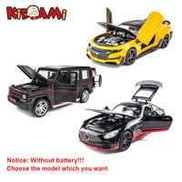 KIDAMI-modelo de coche fundido a presión de aleación 1:32, Camaro/GT/G65/LP770-4, alta simulación, juguetes extraíbles, Hot Wheels para colección para niños, regalos