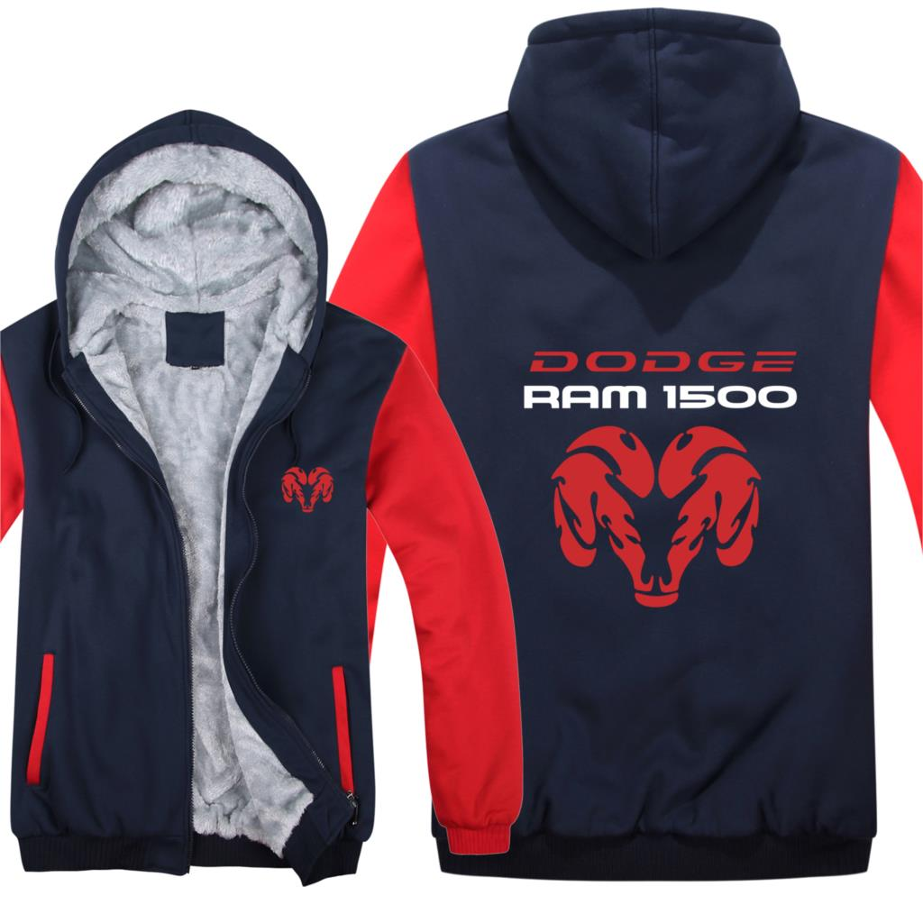 Winter DODGE RAM 1500 Hoodies Warm Men Fashion Wool Liner Jacket Dodge Sweatshirts Fisher Men Coat HS-104