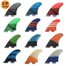 New FCS II-K2.1Fins Tri-Set Honeycomb FCS2 Fin blue/orange/grey/red/green Quilhas Surf Free Shipping