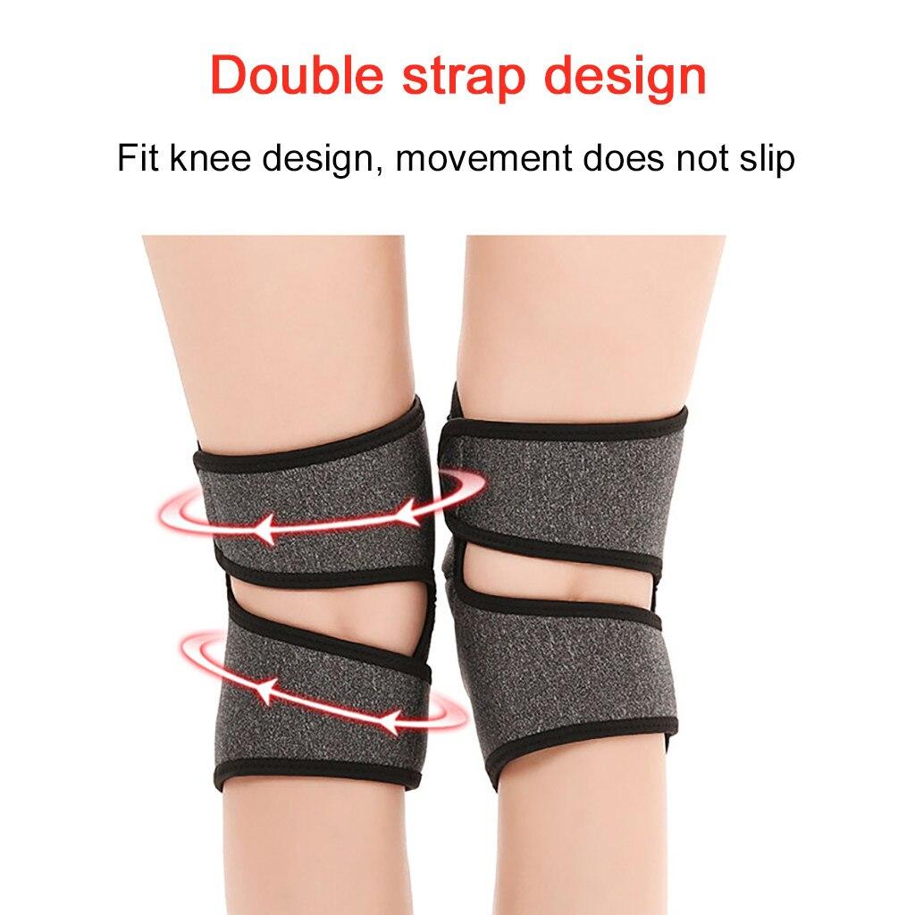 Auto aquecimento turmalina joelho almofada magnética suporte de joelho cinto cinta quente