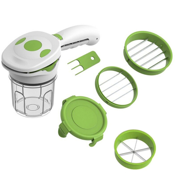 5 in 1 Magic Nicer Quick Stainless Steel Vegetable Dicer Chopper 5 in 1 Multi-Functional Kitchen Onion Vegetable Cutter Slicer image