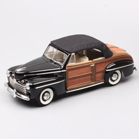 Classic Scale 1:18 luxury 1946 Ford Sportsman woody convertible Diecasts & Toy Vehicles model cars toys Replicas children gifts