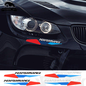 2PCS M Performance Front Bumper Stickers Rear Trunk Decals For BMW 1 2 3 4 5 7 All Models F10 F20 F30 E36 E90 E46 X3 X5 X6 G30 image