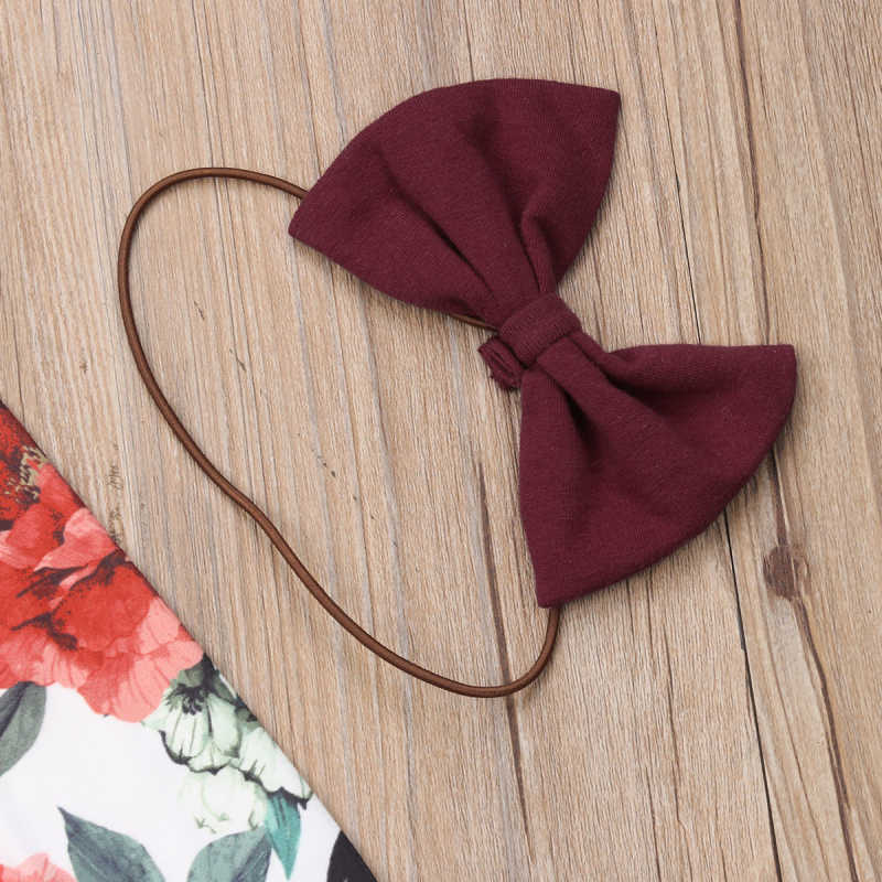 Yenidoğan bebek kız giysileri kış kıyafetler giyim çiçek uzun kollu üstleri + fırfır pantolon 3 adet Set kafa bandı giyim sonbahar giysi