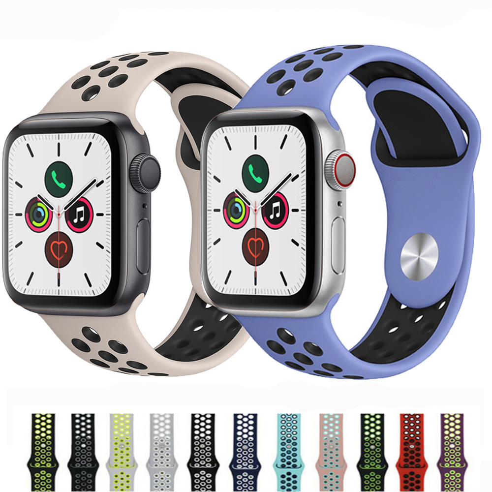 Strap For Apple Watch Band 44mm 40mm Correa Apple Watch 5 4 3 Iwatch Band 42mm 38mm Sport Silicone Bracelet Watchband Accessorie