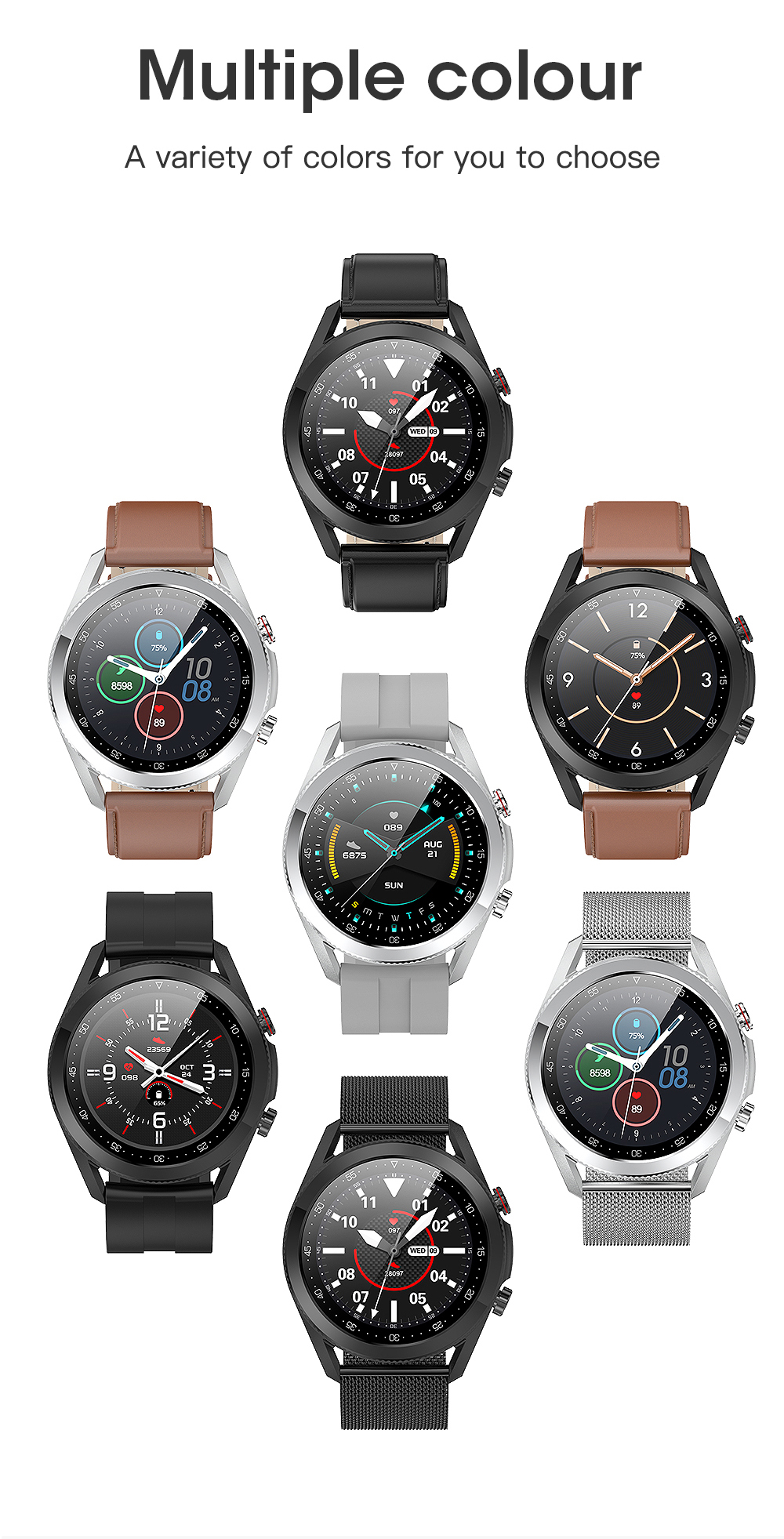 H5e9e51322e6040be81eb925939f1f02aq Timewolf Smart Watch Men 2021 IP68 Waterproof Android Full Touch Sports Smartwatch Bluetooth Call For Samsung Huawei Android IOS