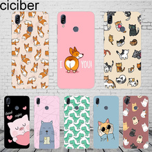 ciciber Cat Dog Corgi Cover For ASUS Zenfone Max Pro M1 ZB601KL ZB602KL For ZenFone Max Pro M2 ZB631KL ZB633KL Phone Case TPU цены