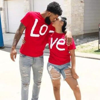 Luxusné bavlnené tričko Love pre páry