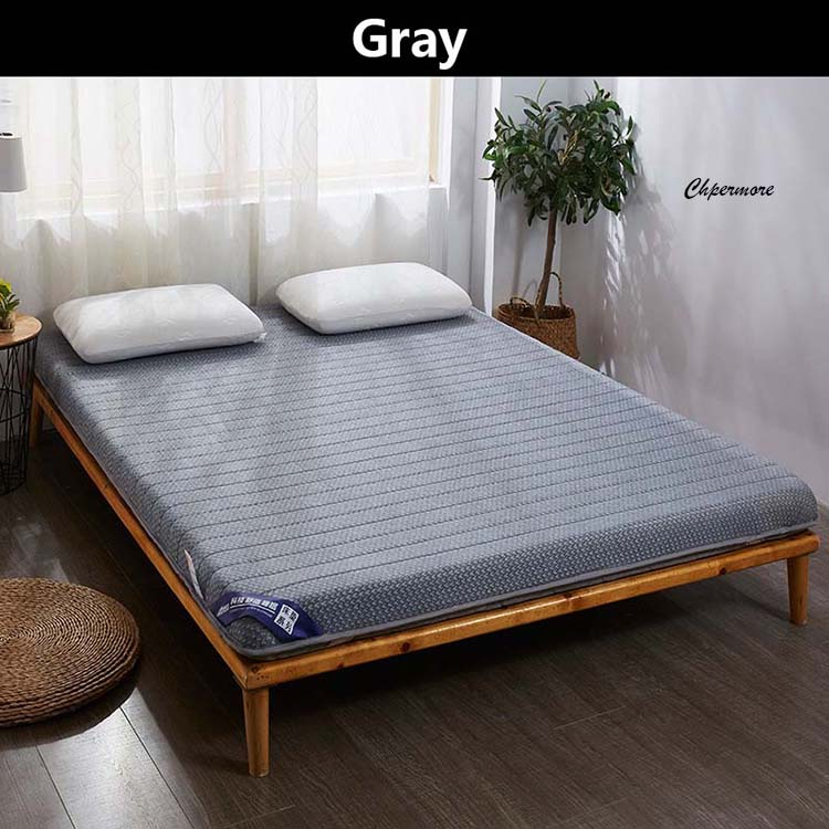 Chpermore Single double Natural latex Mattress Foldable Slow rebound Memory Foam Mattresses Thicken Tatami King Queen Size