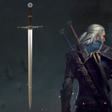 1:1 Anime wizard cosplay Geralt of Rivia sword White Wolf sword Weapon Prop Role Play PU Model Toy Prop 105cm