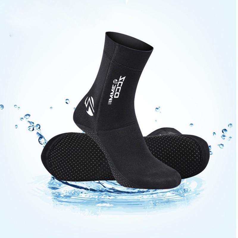 Неопреновые носки для дайвинга 3 мм, ботинки для плавания и воды, Нескользящие пляжные ботинки, обувь для Гидрокостюма, согревающие носки дл...