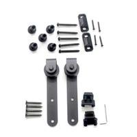 Carbon Steel Mini Sliding Barn Door Hardware Cabinet Hanging Rail Track Kit Hot|Door Rollers|   -