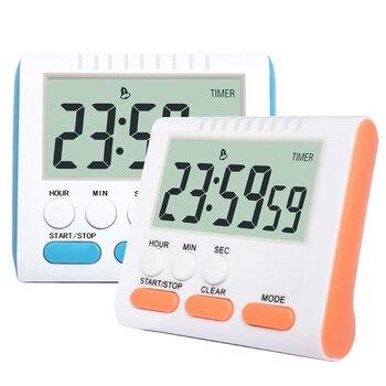 Reloj despertador LED Digital Función de Cuenta regresiva reloj de mesa LED reloj de cocina multifuncional para hornear con imán