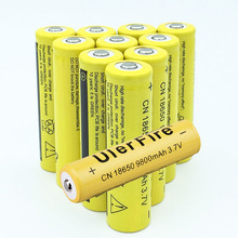 10pcs 18650 Battery 9800mAh 3.7V 18650 Rechargeable Battery Li-ion Lithium Bateria for LED Flashlight Torch Lithium Battery цена 2017