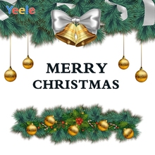 Yeele Christmas Photocall Party Bells Balls Pine Ins Photography Backdrops Personalized Photographic Background For Photo Studio
