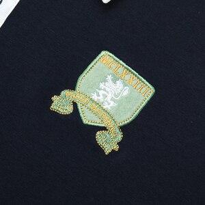 Image 5 - Fredd מרשל 2019 סתיו חדש ארוך שרוול פולו חולצת גברים אופנה רקום פולו חולצה 100% כותנה מזדמן הדפסת Polos חולצות 063