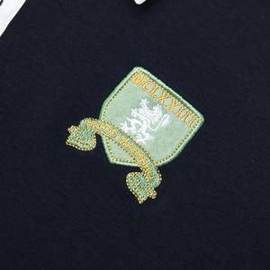 Image 5 - Fredd Marshall 2019 Autumn New Long Sleeve Polo Shirt Men Fashion Embroidered Polo Shirt 100% Cotton Casual Print Polos Tops 063