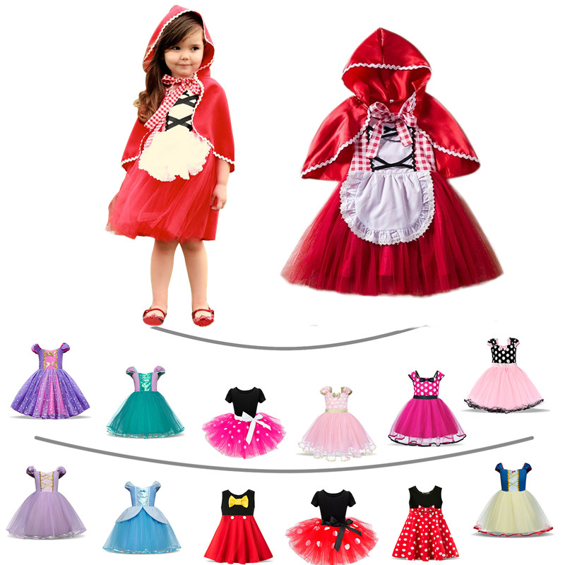Fantasy Baby Girl Halloween Costume For Kids Little Red Riding Hood Snow White Girls Princess Party Christmas Dresses Vestidos