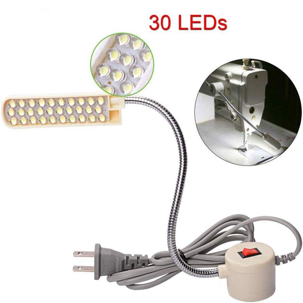 תאורה תעשייתית 10/20/30 LED תפירת מכונת אור מגנטי הרכבה מתכווננת בסיס מנורת עבור כל מכונת תפירה תאורה