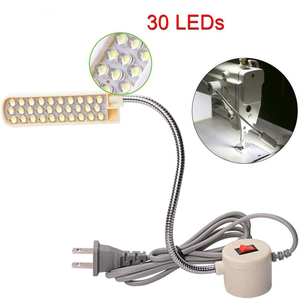 Industrial Lighting 10/20/30 LED Sewing Machine Light Magnetic Mounting Base Gooseneck Lamp for All Sewing Machine Lighting
