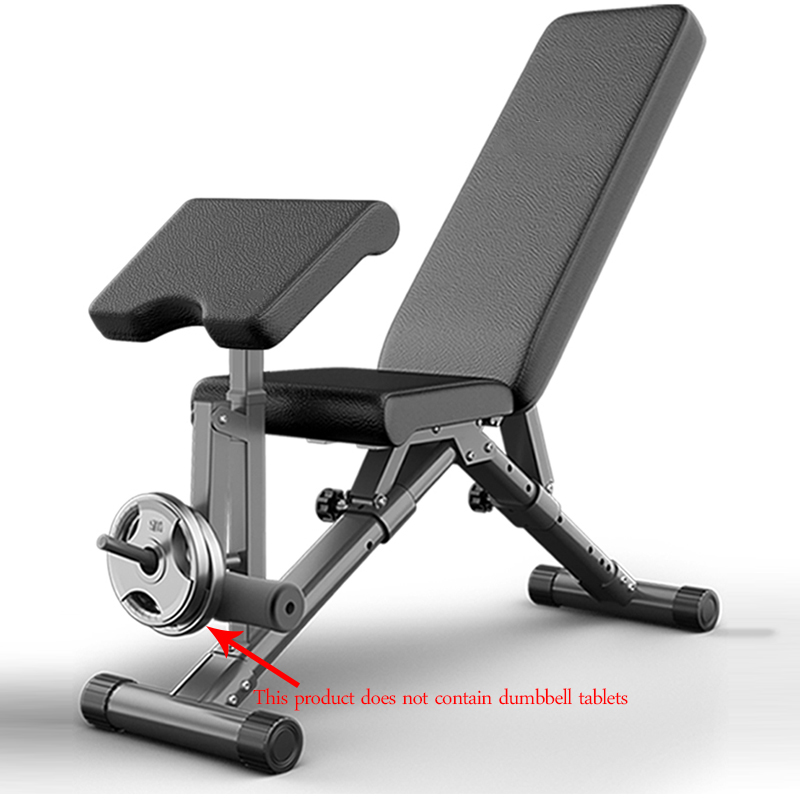 1PC Multi-functional Fitness Chair Sit-ups Fitness Equipment Supine Board Abdominal Muscles Bench Press Dumbbell Bench For Home