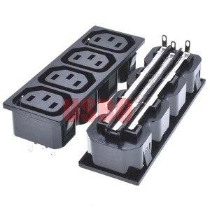 Черная медь 10A 250V IEC320-C13 4 Jack встроенный PDU/UPS шасси Женский Разъем Универсальный AC Разъем питания промышленный выход