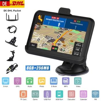 цена на 5 inch Car GPS Navigation 256/8GB FM Transmitter MP3/MP4 Audio Video Players Hi-Fi Speaker Support /EU/North America/AU Maps