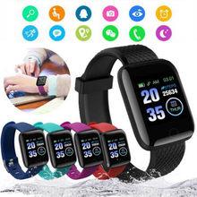 Reloj inteligente D13 116 Plus, pulsera deportiva con control del ritmo cardíaco, resistente al agua, Android A2, envío directo