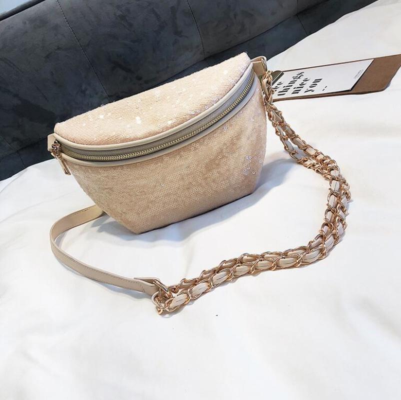 Women Waist BagTravel Pouch Fashion Sequin Sling  Bag Fanny Pack For Women  Fashion Purses  Secret Stash