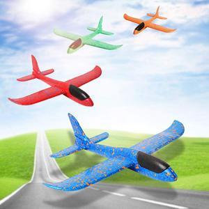 Mão jogar aviões voando jogo brinquedos planador avião 35cm ao ar livre jogar enchimentos meninos brinquedos para crianças jogando espuma aviões modelo