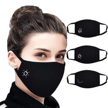 3 máscaras faciales negras ajustables impermeables reutilizables para niños funda transpirable para...