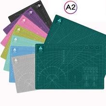 Tabla de corte A2 de 60x45cm, estera de Cameo, línea de rejilla, tabla autocurativa, tarjeta artesanal, multicolor, almohadilla de corte de escritorio de doble cara