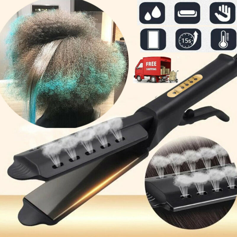 Ceramic Tourmaline Ionic Flat Iron Hair Straightener Professional Glider US PLUG