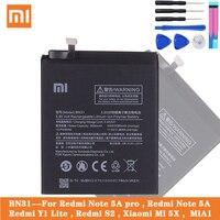 Bateria original bn31 do telefone de xiao mi para mi 5x 5x mi 5x nota vermelha 5a/pro mi a1 vermelho mi y1 lite s2 3000 mah baterias + ferramentas