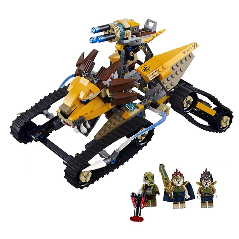 Bela 10056 Chima Laval Royal Fighter Building Blocks  War Chariot Tank Longtooth Crawley Figures Bricks Model Toys