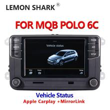 MIB Car Radio Carplay Mirrorlink New RCD330 RCD360C 187B 280D 280E Radio Vehicle Status Display Only For VW MQB POLO 6C Car