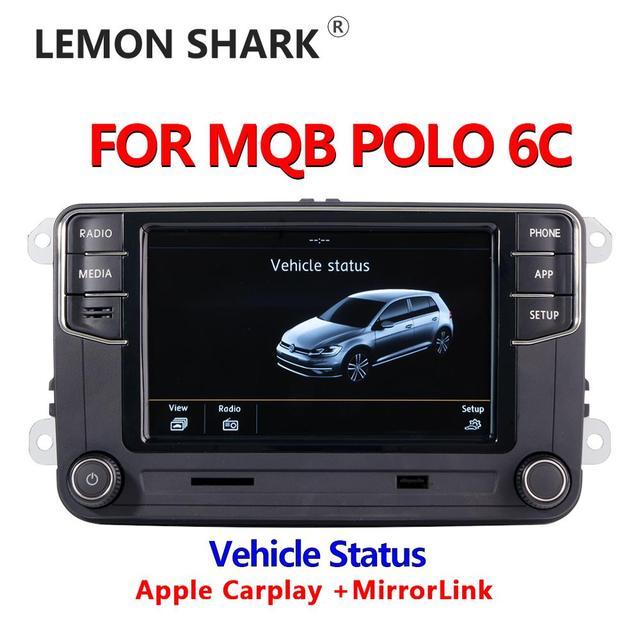 Mib車ラジオcarplay mirrorlink新RCD330 RCD360C 187B 280D 280Eラジオ車両の状態表示のみvw mqbポロ6C車