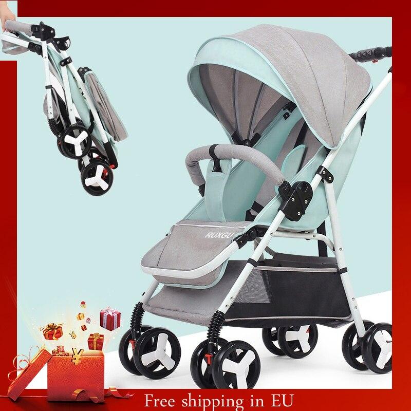 5.5 KG Multifunctional Mini Lightweight Folding Baby Stroller ,Four Wheels Stroller, (NO TAX )(Shipping From EU Or CN  )